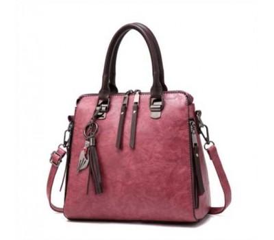 Модная женская сумка розовая