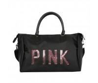Велика спортивна сумка жіноча тканинна чорна