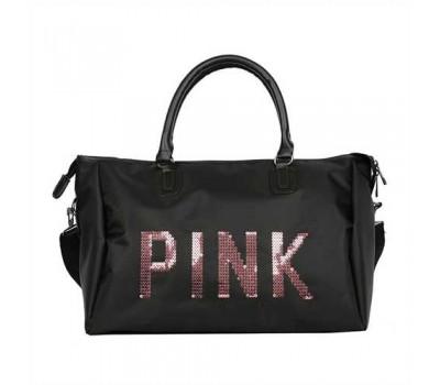 Большая спортивна сумка женская тканевая черная