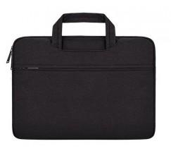 Зручна сумка для ноутбука чорна