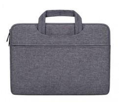 Зручна сумка для ноутбука темно-cіра