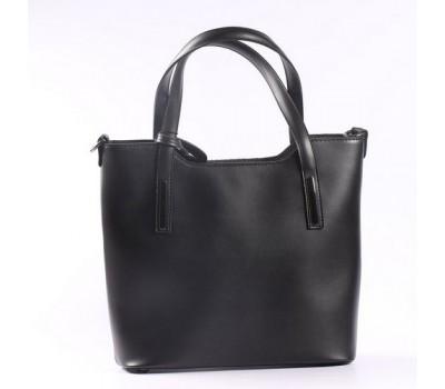 Большая элегантная женская сумка черная