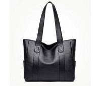 Велика класична сумка шоппер чорна