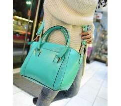 Классическая женская сумка мятная