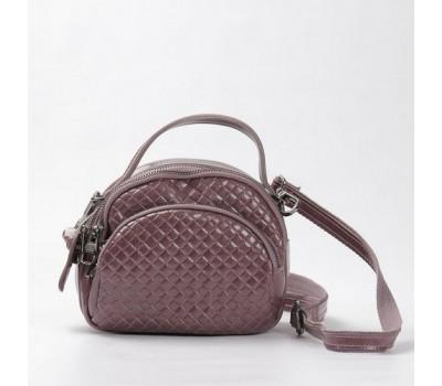Женская сумка-клатч из натуральной кожи розовая