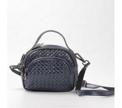 Женская сумка-клатч из натуральной кожи синяя