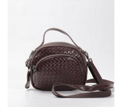 Женская сумка-клатч из натуральной кожи коричневая