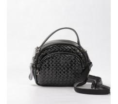 Женская сумка-клатч из натуральной кожи черная