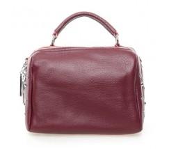 Жіноча компактна сумка з натуральної шкіри бордова