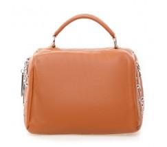 Жіноча компактна сумка з натуральної шкіри коричнева
