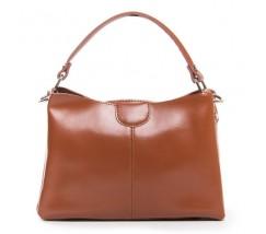 Жіноча шкіряна сумка середнього розміру коричнева