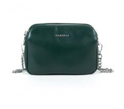 Маленька жіноча шкіряна сумка зелена
