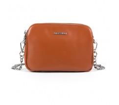 Маленька жіноча шкіряна сумка коричнева