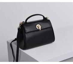 Маленькая сумка женская черная из натуральной кожи