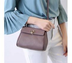 Маленька сумка жіноча фіолетова з натуральної шкіри