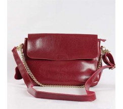 Жіноча невелика шкіряна сумка червона