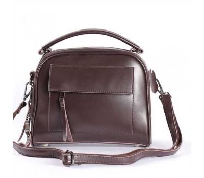 Женская кожаная сумка коричневая
