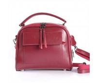Жіноча шкіряна сумка бордова