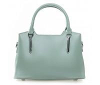 Элегантная женская сумка с кожи бирюзовая