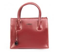 Кожаная женская сумка красная