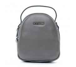 Компактна шкіряна сумочка сіра