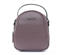 Компактна шкіряна сумочка фіолетова