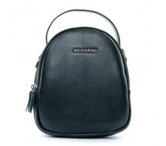Компактна шкіряна сумочка чорна