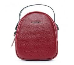 Компактна шкіряна сумочка червона