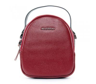 Компактная кожаная сумочка красная