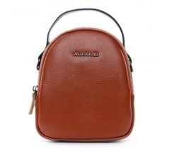 Компактна шкіряна сумочка коричнева