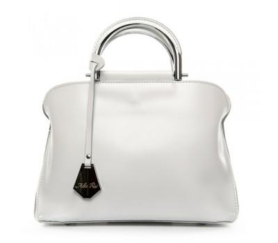 Женская кожаная сумка классика белая