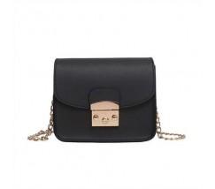 Женская мини сумочка на цепочке черная