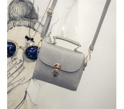 Красивая женская сумочка клатч серая
