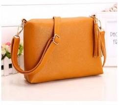 Женская сумка оранжевая из мягкой экокожи