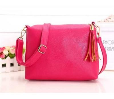 Женская сумка розовая из мягкой экокожи