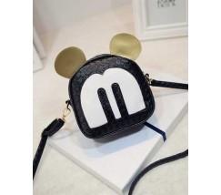 Маленька сумочка чорна Міккі Маус з вушками