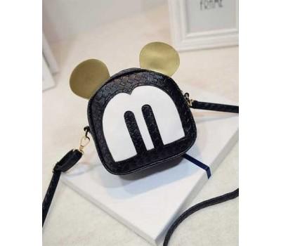 Маленькая сумочка черная Микки Маус с ушками