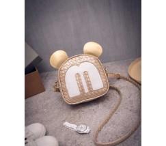 Маленька сумочка золотиста Міккі Маус з вушками