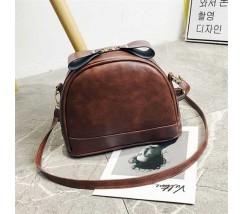 Маленькая женская сумочка темно-коричневая