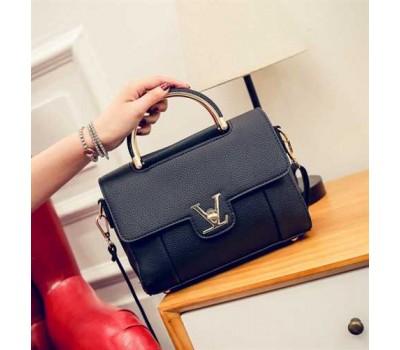 Модная женская сумка LV черная