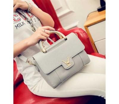 Модная женская сумка LV серая
