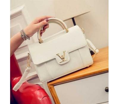 Модная женская сумка LV белая