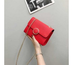 Елегантна жіноча маленька сумочка червона