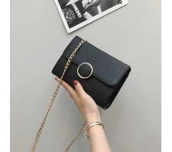 Елегантна жіноча маленька сумочка чорна