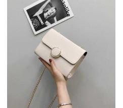 Елегантна жіноча маленька сумочка біла