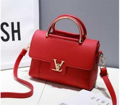 Модная женская сумка LV красная