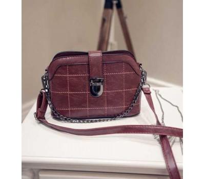 Модная женская сумочка клатч бордовая