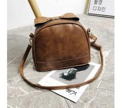 Маленькая женская сумочка светло-коричневая