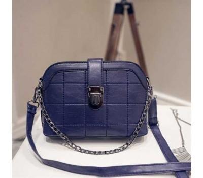 Модная женская сумочка клатч синяя