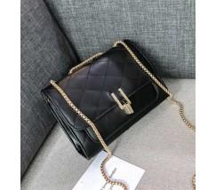 Женская мини сумка-клатч черная